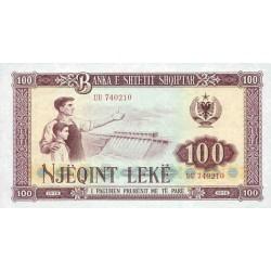1976 -  Albania P46 100 Leke banknote