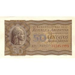 1950 - Argentina P259a 50 centavos