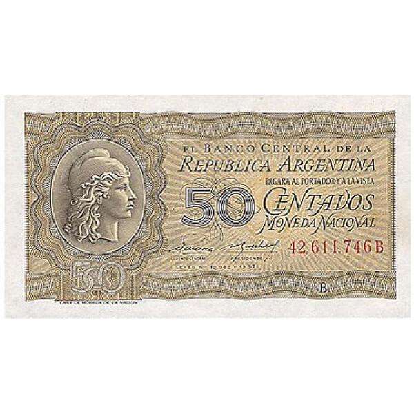 1951/56 - Argentina  P261 billete de 50 centavos