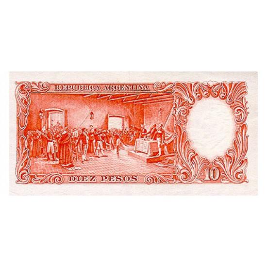 1954/63 - Argentina P270a 10 Pesos banknote