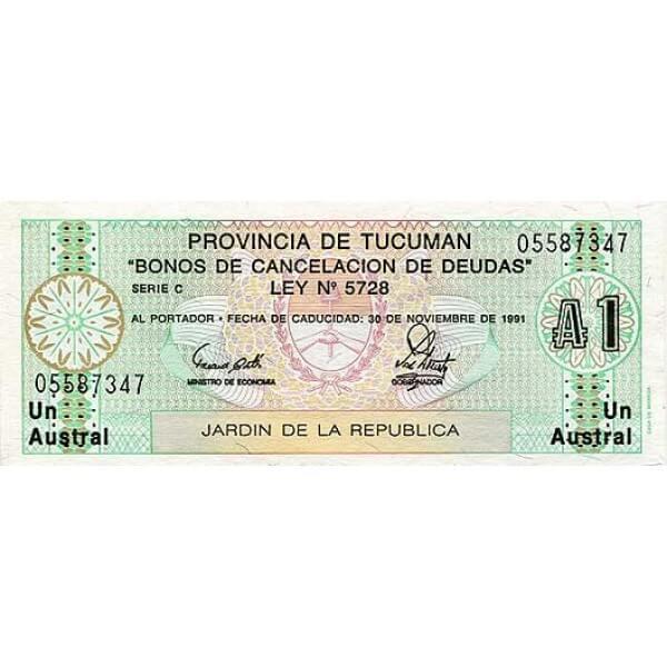 1991 - Argentina S2711 1 Austral