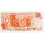 1970/73 - Argentina P287a billete de 1 Peso