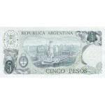 1976 - Argentina  P294 billete de 5 Pesos