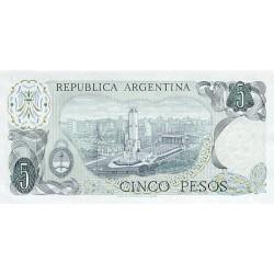 1976 - Argentina P294  5 Pesos banknote