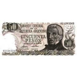 1975 - Argentina P296 50 Pesos  banknote