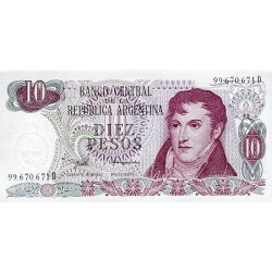 1976 - Argentina P300 10 Pesos  banknote