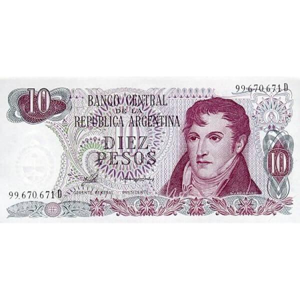 1976 - Argentina  P300  billete de 10 Pesos