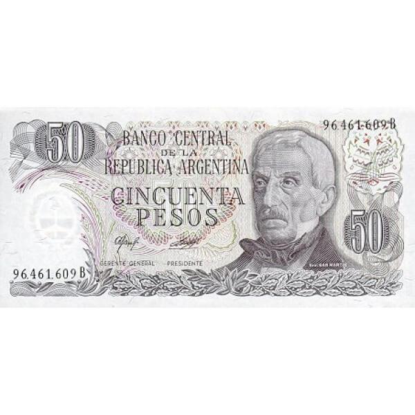 1978 - Argentina  P301b  billete de 50 Pesos