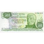1982 - Argentina  P303b 500 Pesos  banknote