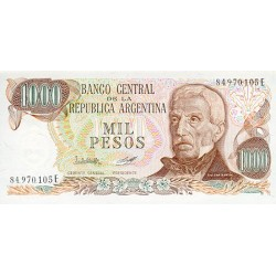 1976/83 - Argentina  P304c 1,000 Pesos  banknote