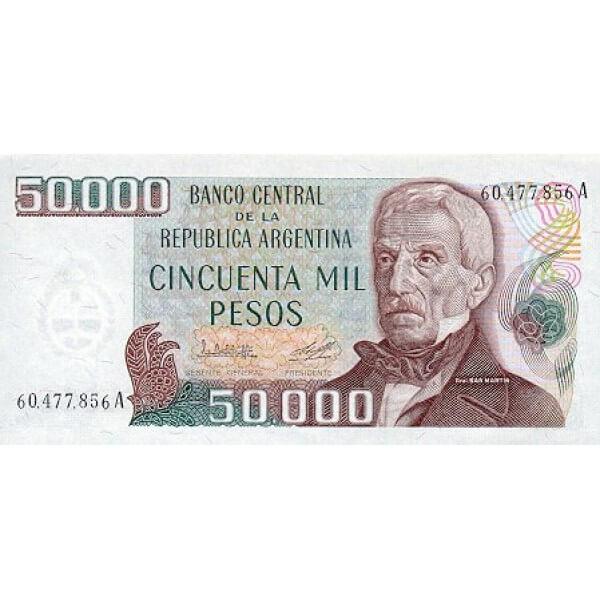 1979 - Argentina  P307 billete de 50.000 Pesos