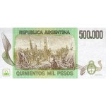 1980 - Argentina  P309 500,000 Pesos  banknote