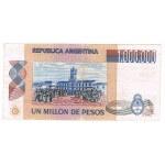 1981 - Argentina P310  billete de 1.000.000  pesos. Usado  BC