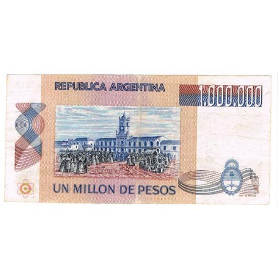 1981 - Argentina P310 1.000.000 Pesos used  banknote F