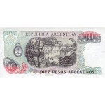 1983 - Argentina  P313  billete de 10 Pesos