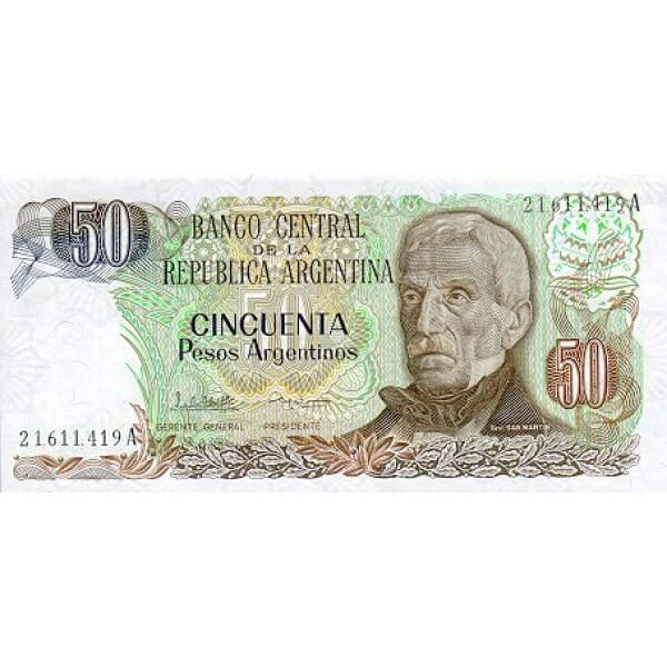 1983 - Argentina  P314a billete de 50 Pesos