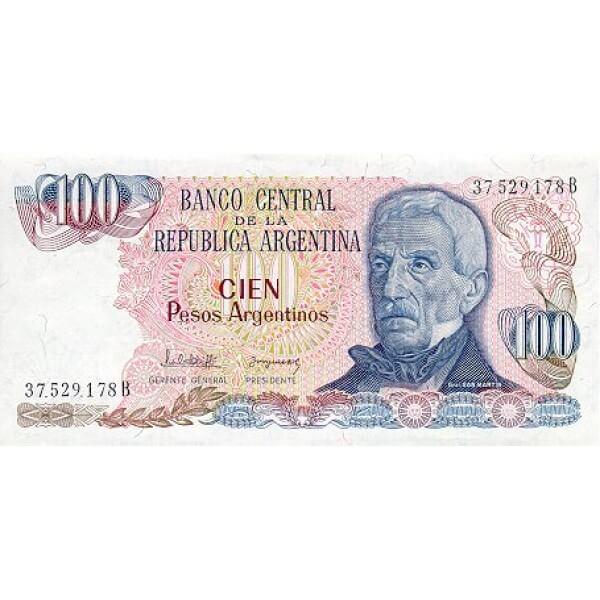 1983 - Argentina P315a billete de 100 Pesos