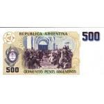 1983 - Argentina P316  billete de 500 Pesos