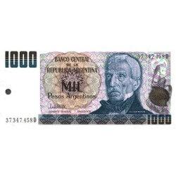 1984 - Argentina P317b 1,000 Pesos banknote