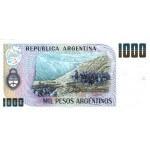 1984 - Argentina P317b billete de 1.000 Pesos