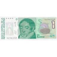 1989 - Argentina P323b 1 Austral  banknote