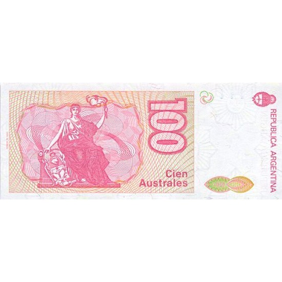 1989 - Argentina P327b 100 Australes banknote