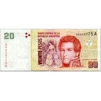 2000 - Argentina P349 20 Pesos banknote