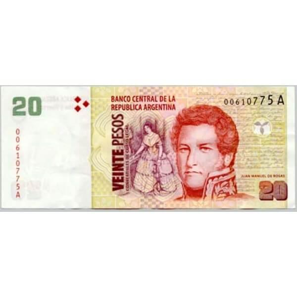 2000 - Argentina P349 billete de 20 Pesos