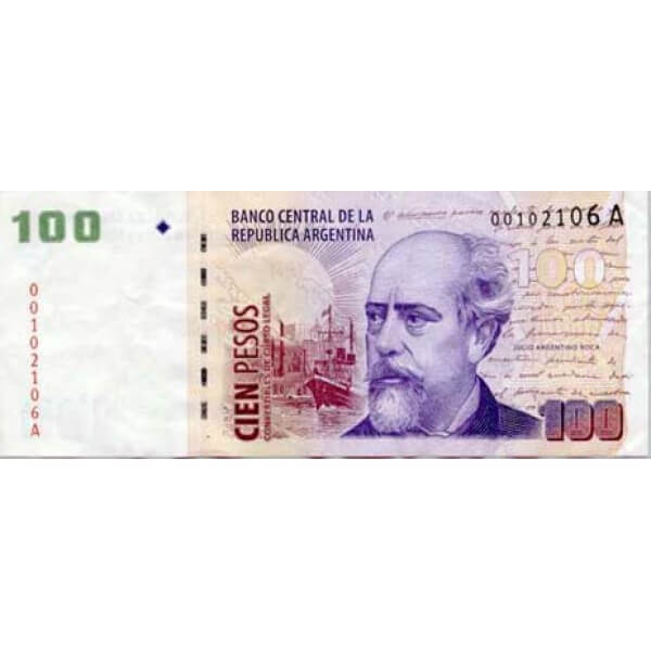 1999 - Argentina P351 100 Pesos  banknote
