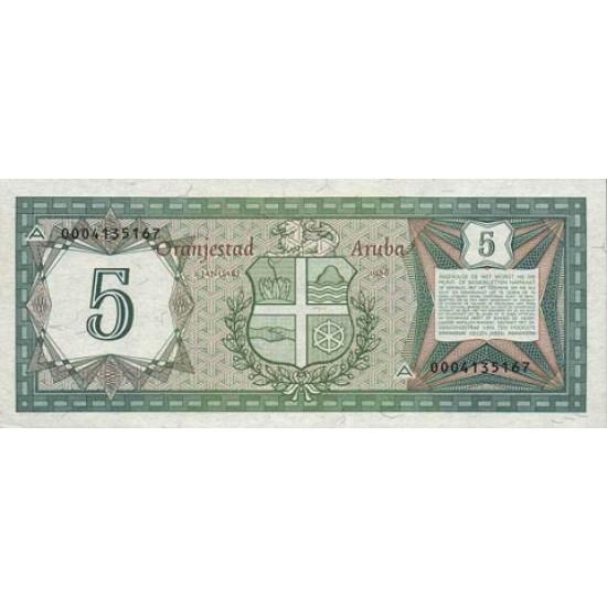 1986 - Aruba P1 5 Florins banknote