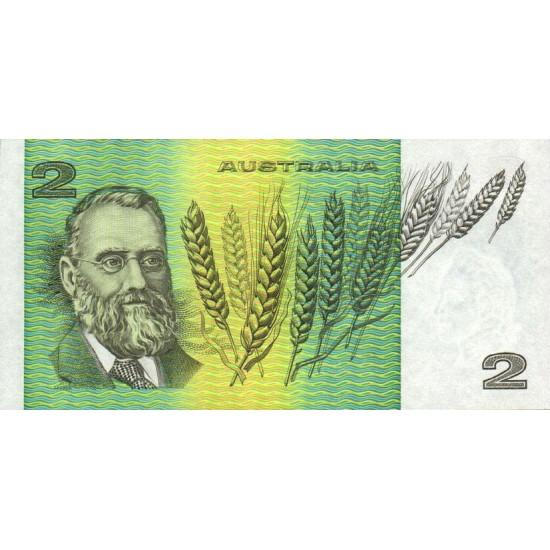 1985 - Australia P43e 2 Dollars banknote