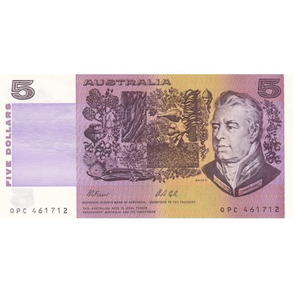 1991 - Australia P44g billete de 5 Dólares