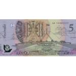 1992 - Australia P50a billete de 5 Dólares