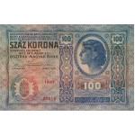 1912 - Austria P12 billete de 100 Kronen