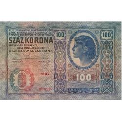 1912 - Austria P12 100 Kronen  banknote