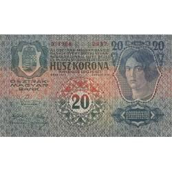 1913 - Austria PIC 14   20 kronen banknote