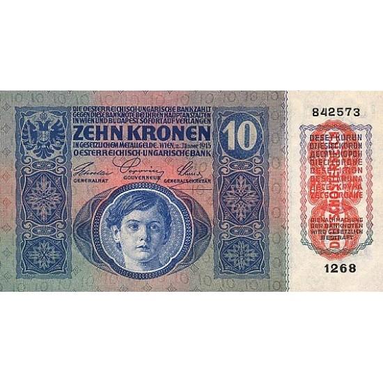 1919 - Austria P51 10 Kronen banknote