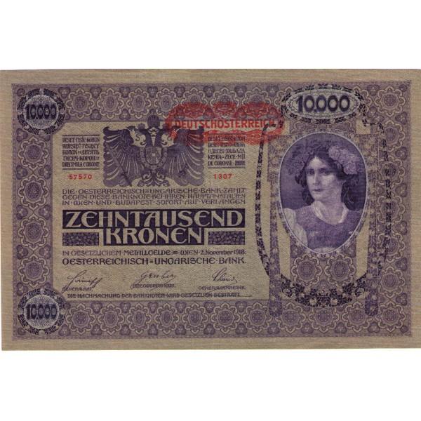 1918 - Austria P64 10,000 Kronen banknote