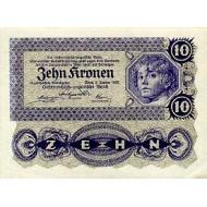 1922 - Austria P75 10 Kronen banknote