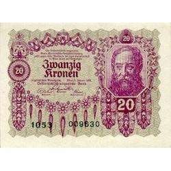 1922 - Austria P76 20 Kronen Banknote