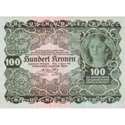 1922 - Austria P77 100 Kronen banknote