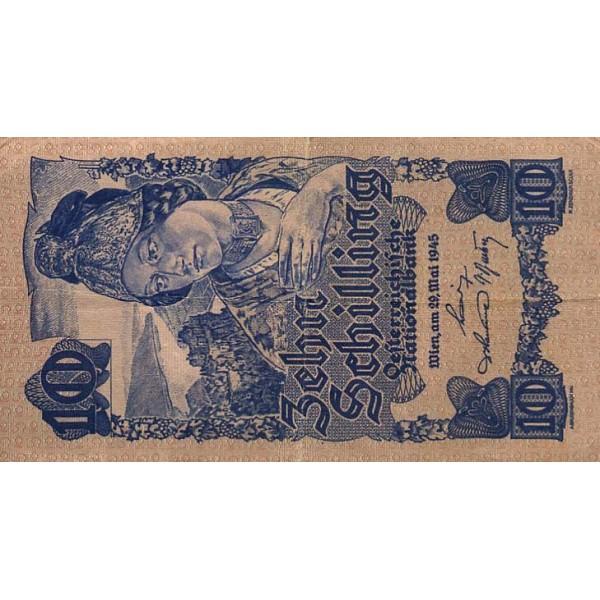 1945 - Austria P114 10 Shillings Banknote
