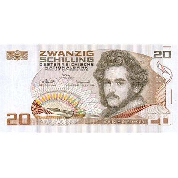 1986 - Austria P148 20 Shillings banknote