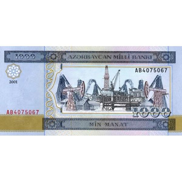 2001-  Azerbayan pic 23 billete de 1000 Manat