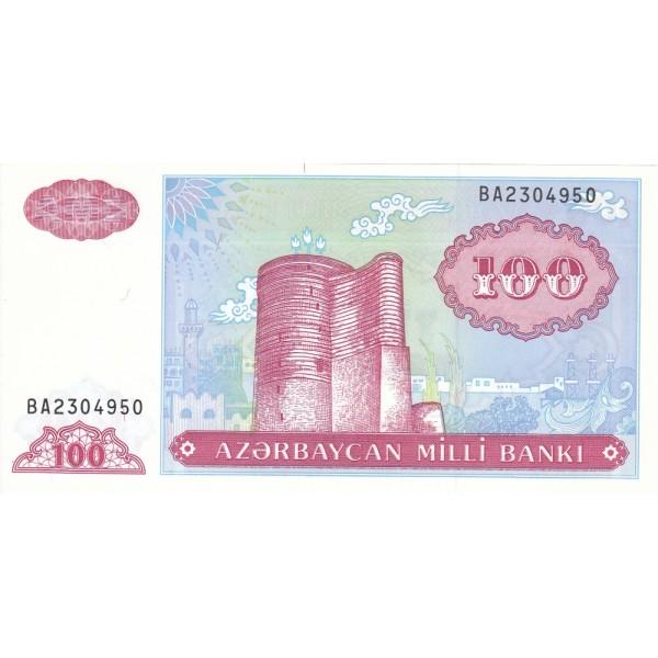 1993-  Azerbayan pic 18b billete de 100 Manat
