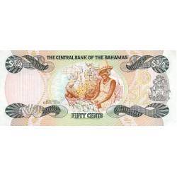 1984 - Bahamas P42 50 Cents banknote