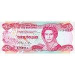 1984 - Bahamas P44 3 Dollars banknote