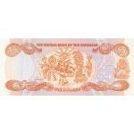 1984 - Bahamas P45b billete de 5 Dólares