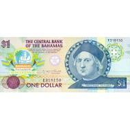 1992 - Bahamas P50 1 Dollar banknote