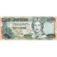 2001 - Bahamas P68 50 Cents banknot
